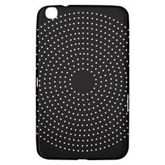 Round Stitch Scrapbook Circle Stitching Template Polka Dot Samsung Galaxy Tab 3 (8 ) T3100 Hardshell Case  by Mariart