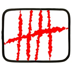 Scratches Claw Red White H Netbook Case (large) by Mariart