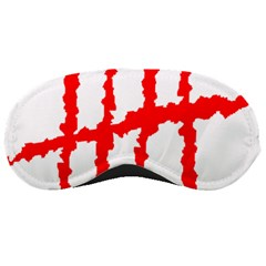 Scratches Claw Red White H Sleeping Masks by Mariart