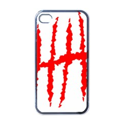 Scratches Claw Red White H Apple Iphone 4 Case (black) by Mariart