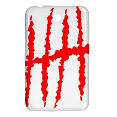 Scratches Claw Red White H Samsung Galaxy Tab 3 (7 ) P3200 Hardshell Case  by Mariart