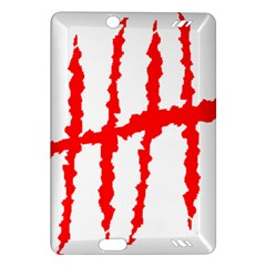 Scratches Claw Red White H Amazon Kindle Fire Hd (2013) Hardshell Case by Mariart