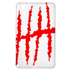 Scratches Claw Red White H Samsung Galaxy Tab Pro 8 4 Hardshell Case by Mariart