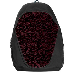 Random Red Black Backpack Bag by Mariart