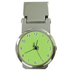 Sign Green The Money Clip Watches by Mariart