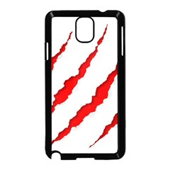 Scratches Claw Red White Samsung Galaxy Note 3 Neo Hardshell Case (black) by Mariart