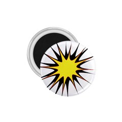 Spot Star Yellow Black White 1 75  Magnets by Mariart