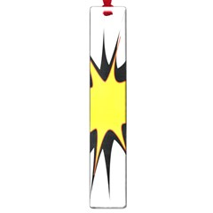Spot Star Yellow Black White Large Book Marks by Mariart