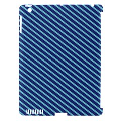 Striped  Line Blue Apple Ipad 3/4 Hardshell Case (compatible With Smart Cover) by Mariart