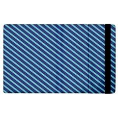 Striped  Line Blue Apple Ipad 3/4 Flip Case by Mariart