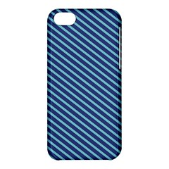 Striped  Line Blue Apple Iphone 5c Hardshell Case by Mariart