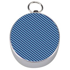 Striped  Line Blue Silver Compasses by Mariart