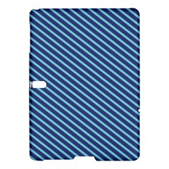Striped  Line Blue Samsung Galaxy Tab S (10 5 ) Hardshell Case  by Mariart