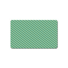 Striped Green Magnet (name Card) by Mariart