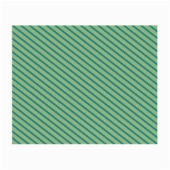 Striped Green Small Glasses Cloth (2 Side) by Mariart