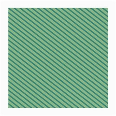 Striped Green Medium Glasses Cloth by Mariart