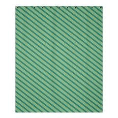 Striped Green Shower Curtain 60  X 72  (medium)  by Mariart