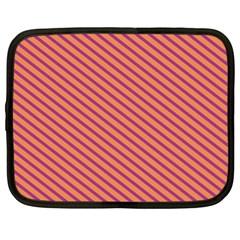 Striped Purple Orange Netbook Case (xl)  by Mariart