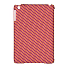 Striped Purple Orange Apple Ipad Mini Hardshell Case (compatible With Smart Cover) by Mariart