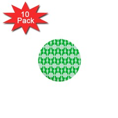 Sign Green A 1  Mini Buttons (10 Pack)  by Mariart
