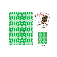 Sign Green A Playing Cards (mini)  by Mariart