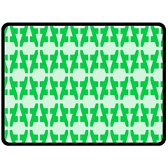 Sign Green A Double Sided Fleece Blanket (large)  by Mariart