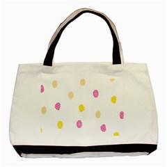 Stone Diamond Yellow Pink Brown Basic Tote Bag by Mariart