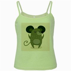 Tooth Bigstock Cute Cartoon Mouse Grey Animals Pest Green Spaghetti Tank by Mariart