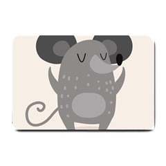 Tooth Bigstock Cute Cartoon Mouse Grey Animals Pest Small Doormat  by Mariart