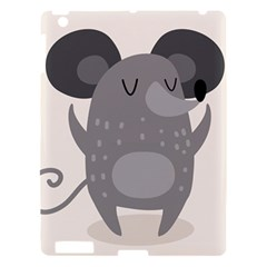 Tooth Bigstock Cute Cartoon Mouse Grey Animals Pest Apple Ipad 3/4 Hardshell Case by Mariart
