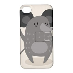 Tooth Bigstock Cute Cartoon Mouse Grey Animals Pest Apple Iphone 4/4s Hardshell Case With Stand by Mariart