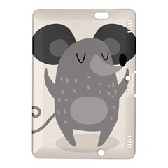 Tooth Bigstock Cute Cartoon Mouse Grey Animals Pest Kindle Fire Hdx 8 9  Hardshell Case by Mariart