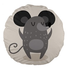 Tooth Bigstock Cute Cartoon Mouse Grey Animals Pest Large 18  Premium Flano Round Cushions by Mariart