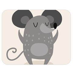 Tooth Bigstock Cute Cartoon Mouse Grey Animals Pest Double Sided Flano Blanket (medium)  by Mariart