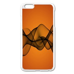 Transparent Waves Wave Orange Apple Iphone 6 Plus/6s Plus Enamel White Case by Mariart