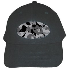 Urban Initial Camouflage Grey Black Black Cap by Mariart