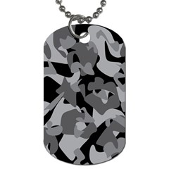 Urban Initial Camouflage Grey Black Dog Tag (two Sides) by Mariart