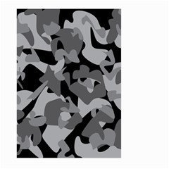 Urban Initial Camouflage Grey Black Large Garden Flag (two Sides) by Mariart