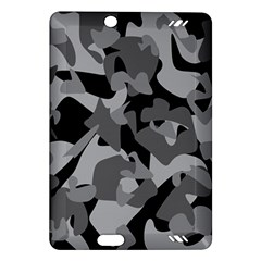 Urban Initial Camouflage Grey Black Amazon Kindle Fire Hd (2013) Hardshell Case by Mariart