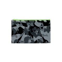 Urban Initial Camouflage Grey Black Cosmetic Bag (xs) by Mariart