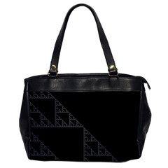 Triangle Black White Chevron Office Handbags by Mariart