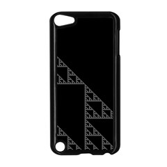 Triangle Black White Chevron Apple Ipod Touch 5 Case (black) by Mariart
