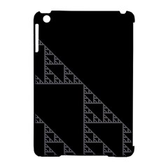 Triangle Black White Chevron Apple Ipad Mini Hardshell Case (compatible With Smart Cover) by Mariart