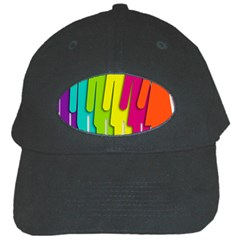 Trans Gender Purple Green Blue Yellow Red Orange Color Rainbow Sign Black Cap by Mariart