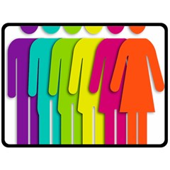 Trans Gender Purple Green Blue Yellow Red Orange Color Rainbow Sign Double Sided Fleece Blanket (large)  by Mariart
