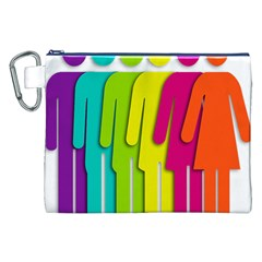 Trans Gender Purple Green Blue Yellow Red Orange Color Rainbow Sign Canvas Cosmetic Bag (xxl) by Mariart
