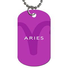 Zodiac Aries Dog Tag (two Sides) by Mariart