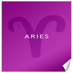 Zodiac Aries Canvas 16  X 16   by Mariart