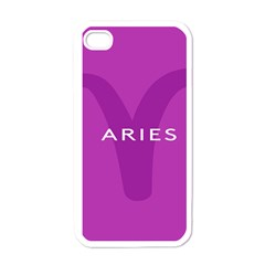 Zodiac Aries Apple Iphone 4 Case (white) by Mariart