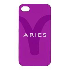 Zodiac Aries Apple Iphone 4/4s Premium Hardshell Case by Mariart